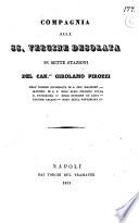 Compagnia alla SS  Vergine Desolata in sette stazioni del can co Girolamo Pirozzi