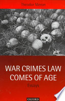 War Crimes Law Comes Of Age