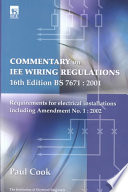 Commentary On IEE Wiring Regulations 16th Edition, BS 7671 : 2001 : 1992 been adopted as the british standard (bs...