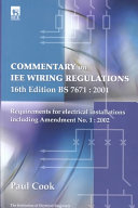 Commentary on IEE Wiring Regulations 16th Edition, BS 7671 : 2001