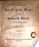 Allgemeines Intelligenzblatt f  r das K  nigreich Baiern