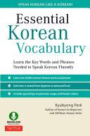 Essential Korean Vocabulary Book