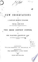 A Few Observations on a Pamphlet Recently Published by