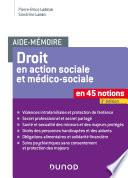 Aide M Moire Le Droit En Action Sociale Et M Dico Sociale 3e D