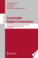 Sustainable Digital Communities