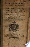 Oraison funebre de ... Prince Charles Emmanuel III., roi de Sardaigne
