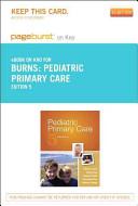 Pediatric Primary Care   Pageburst E Book on Kno  Retail Access Card