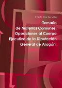 Temario de Materias Comunes   Oposiciones al Cuerpo Ejecutivo de la Diputaci  n General de Arag  n  6   Edici  n