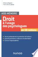 Aide M Moire Droit L Usage Des Psychologues