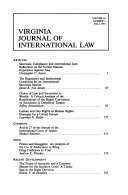 Virginia journal of international law