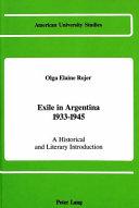 Exile in Argentina, 1933-1945