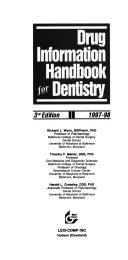 Drug Information Handbook for Dentistry 1997 98