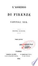 L Assedio di Firenze Capitoli XXX