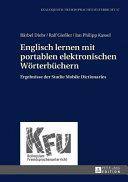 Englisch Lernen Mit Portablen Elektronischen Woerterbuechern