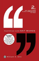 Mastering Core SAT Words: 2nd Edition