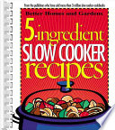 5 Ingredient Slow Cooker Recipes