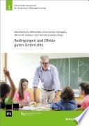 Bedingungen und Effekte guten Unterrichts