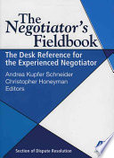 The Negotiator S Fieldbook