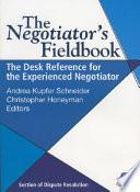 The Negotiator s Fieldbook