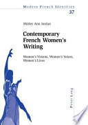 Contemporary French Women s Writing
