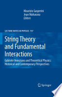 String Theory And Fundamental Interactions book