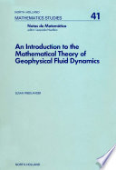 An Introduction to the Mathematical Theory of Geophysical Fluid Dynamics
