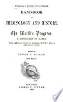 Hand book of chronology and history
