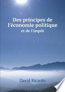 Des principes de l'?conomie politique et de l'imp?t