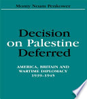 Decision on Palestine Deferred
