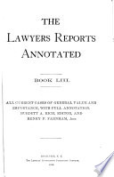The Lawyers Reports Annotated  Book 1 70