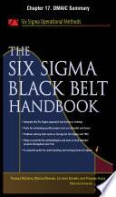 The Six Sigma Black Belt Handbook  Chapter 17   DMAIC Summary