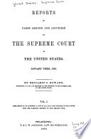 Reports of Cases Argued and Adjudged in the Supreme Court of the United States