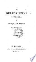 La Gerusalemme Liberata  Con Annotazioni
