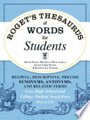 Roget s Thesaurus of Words for Students