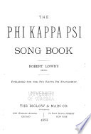 The Phi Kappa Psi Song Book
