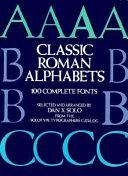 Classic Roman Alphabets