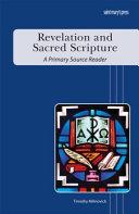 Revelation and Sacred Scripture Book PDF
