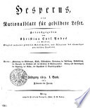 Hesperus, ein Nationalblatt für gebildete Leser