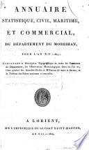 Annuaire statistique  civil  maritime  et commercial  du d  partement du Morbihan