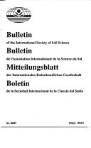 Bulletin of the International Society of Soil Science