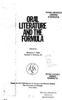 Oral Literature And The Formula
