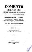 Comento sul codice civile generale austriaco con ispeciale riguardo alla pratica Pdf/ePub eBook