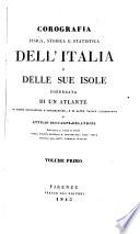 Corografia fisica  storica e statistica dell Italia e delle sue isole