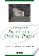 A Companion to Eighteenth Century Poetry