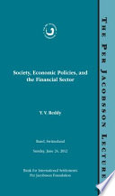 Per Jacobsson Lecture  Society  Economic Policies  and the Financial Sector