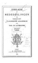 Verslagen en mededelingen van de Koninklijke Vlaamse Academie voor Taal- en Letterkunde