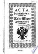 Acta, Die Löbliche Vorderbergerische drey Eysen-Glieder, In dem Herzogthumb Steyer concernirent