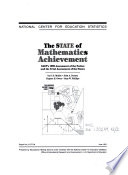 The State of Mathematics Achievement