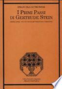 I primi passi di Gertrude Stein