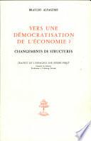 illustration du livre Vers une démocratisation de l'économie?